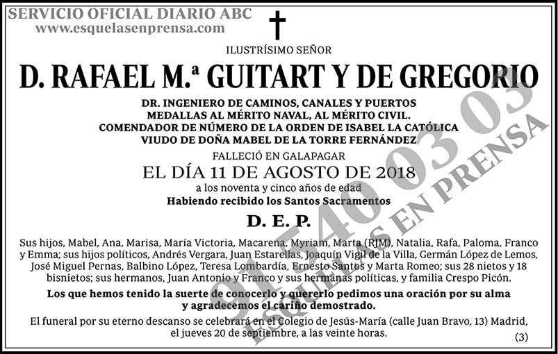 Rafael M.ª Guitart y de Gregorio